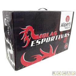 Mola de suspensão - Aliperti - Corsa 1996 até 2002 - com ar condicionado  - Esportiva - jogo - AL-8102