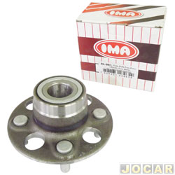 Cubo de roda - IMA - Fit 2003 até 2008 - com rolamento sem ABS - forjado - traseiro - cada (unidade) - AL961