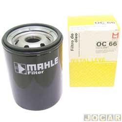 Filtro de óleo - Metal Leve - Palio/Siena/Palio Weekend/Strada - 1996 até 2000 - Tipo - 1993 até 1997 - Brava - 1999 até 2003 - cada (unidade) - OC66