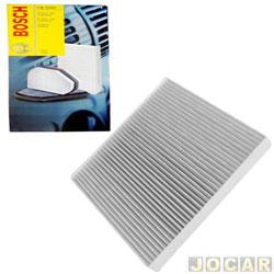 Filtro da cabine - Bosch - Ka - Courier 1996 Até 2013 - Fiesta 1996 Até 2002 - Ka 2002 até 2014  - cada (unidade) - 0986BF0513