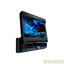 DVD player - P�sitron - com tela LCD de 7 retr�til-controle remoto-USB/MP3/WMA/MPEG - cada (unidade) - SP6300AV