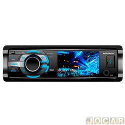 DVD player - P�sitron - 12492110 - com tela de LCD de 3 - com recptor TV e USB - cada (unidade) - SP4700DTV