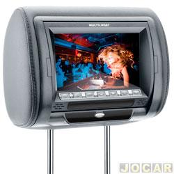 Encosto de cabe�a com monitor - Multilaser - com tela LCD 7 rotativa - sem leitor  - grafite - cada (unidade) - AU305