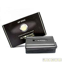 Amplificador de pot�ncia - Audiophonic - Linha Sensation - 2 canais - 2x180W digital class - 2 Ohms - cada (unidade) - HP-2000