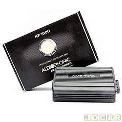 Amplificador de potência - Audiophonic - Linha Sensation - mono - 1x400W digital class - 2 Ohms - cada (unidade) - HP-1000
