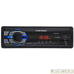 Auto rádio MP3 player - Pósitron - com conexão USB e leitor Micro SD - Card  - cada (unidade) - SP-2210U / PN-012798000