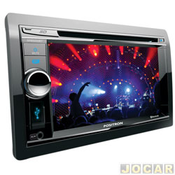 DVD player - P�sitron - com Tela 6,2, TV Digital, USB,Bluetooth e ent. c�mera de r� - cada (unidade) - SP8500BT
