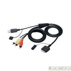 Conector adaptador para rádio - JVC - cabo USB de áudio e vídeo para Ipod e Iphone - cada (unidade) - KS-U30