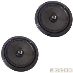Alto-falante - Bravox - coaxial, 6 polegadas,  60W RMS com 4 OHMS - par - CX60-BK / 9-6076/098