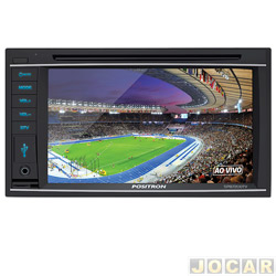 Central multim�dia - P�sitron - tela de 6.2, com bluetooth e sintonizador de tv digital - cada (unidade) - SP8720DTV