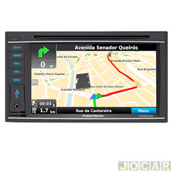 Central multim�dia - P�sitron - 6.2, Espelhamento de Tela, TV,GPS ,comp.c/iphone, bluetooth - cada (unidade) - SP8920NAV