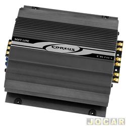 Amplificador de pot�ncia - Corzus - 2x70 W RMS em 2 Ohms (est�reo) + 1x140 W em 2 Ohms - cada (unidade) - CR280w