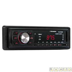 Auto r�dio mp3 player - Roadstar - r�dio FM/SD/USB - cada (unidade) - RS-2708BR