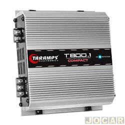 Amplificador de potência - Taramp's - T 800.1 Compact - D 800 watts RMS 4 ohms - cada (unidade) - 900505