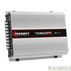 Amplificador de potência - Taramp's - TS 800x4 Compact Classe D 800 Watts RMS(4 canais ST1/BR2) - cada (unidade) - 900475