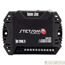 Amplificador de potência - Stetsom - Iron Line 4X70 WRMS 2 oHMS / 1X140 2 oHMS - cada (unidade) - IR280.3