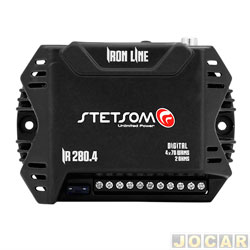 Amplificador de potência - Stetsom - Iron Line 4X70 WRMS 2 oHMS / 2X140 4 oHMS - cada (unidade) - IR280.4