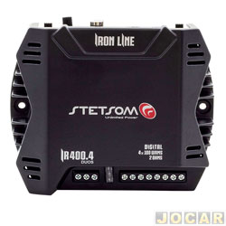 Amplificador de potência - Stetsom - Iron Line 4X100 WRMS 2 oHMS / 2X200 4 oHMS - Duos - cada (unidade) - IR400.4DUOS