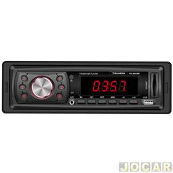 Auto rádio MP3 player - Roadstar - rádio FM/SD/USB - com controle remoto - cada (unidade) - RS-2601BR