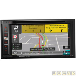Central multimídia - Pioneer - Tela 6,2 2DIN/GPS/USB/DTV/Bluetooth/Mixtrax - cada (unidade) - AVIC-F980TV