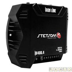 Amplificador de potência - Stetsom - Amp 4 Canais 100 W 2 OHMS 400 W RMS IR400.4 DUOS - cada (unidade) - STO2060044