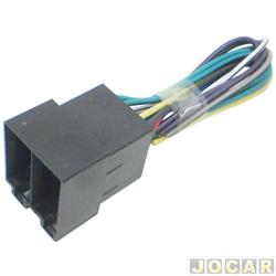 Conector adaptador para rádio - macho - com 16 vias - cada (unidade)