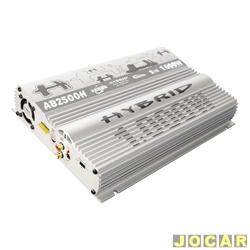 Amplificador de pot�ncia - Boog - est�reo tipo Hybrid- 2x250W a 2ohms - cada (unidade) - AB-2500H