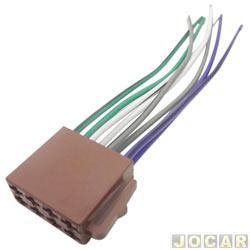 Conector adaptador para rádio - Femea - com 16 vias - cada (unidade)
