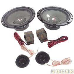 Alto-falante - Hurricane- kit 2 vias - 6 - 110 W - par