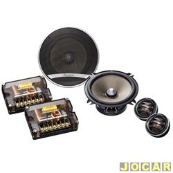 Alto-falante - Pioneer - Kit 2 vias - Crossover+Woofer - 35W - 5 - cada (unidade) - ts-d1320