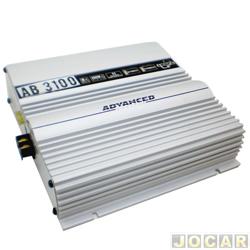 Amplificador de pot�ncia - Boog - est�reo - advanced Booster - 3 canais - 390W RMS - cada (unidade) - AB-3100