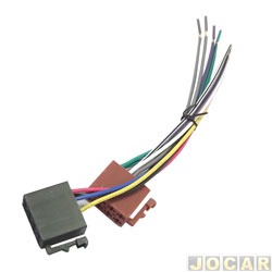 Conector adaptador para rádio - CD 16 vias fic. ford femea  - cada (unidade)