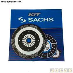 Kit de embreagem - Sachs - Clio/Kangoo/Twingo/Logan 1.0 8/16v 1999 até 2012  - Peugeot 206 1.0 16v 2000 até 2010 - 180mm 26 estrias(CX JBL) - cada (unidade) - 6591