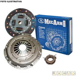 Kit de embreagem - Gol 1.0 EFI 2002 até 2005 - Special 2004 até 2006 - MCArm - Gol G4 1.0 total flex 2006 em diante - jogo