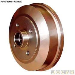 Tambor de freio - Bosch - Gol/Parati/Passat/Santana/Voyage 1.0 1.3 1.6 1.8 2.0 94/05 - Versailles/Royale 1992 até 1996 - com cubo 4 furos 239mm - traseiro - par - TF2396-0986BB4504