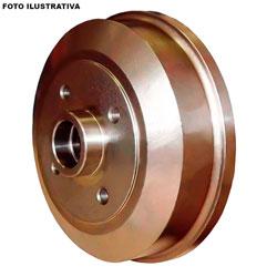 Tambor de freio - Bosch - Fiesta 1.0 1.4 1996 até 2006 - Ka 1.0 1.3 1.6 1997 até 2006 - com cubo 216mm - traseiro - par - TF2410-0986BB4516