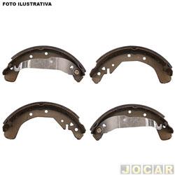 Sapata de freio - Fras-le - Blazer/S10 1995 até 2011 - para roda com 5 furos - sistema Bendix - traseira - cada (unidade) - CB/132CP