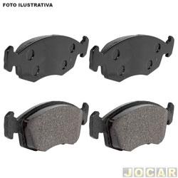 Pastilha do freio - Fras-le - Fiesta 2009 em diante/EcoSport 2009 até 2012 - sistema Teves - dianteiro - jogo - PD/80