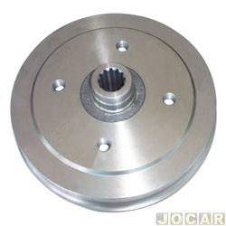 Tambor de freio - Varga - Fusca 1300/1500/1600 1980 até 1996 - com cubo para roda de 4 furos - traseiro - par - RPTA00080