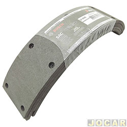 Lona de freio - Bosch - F1000 4X2 turbo 4X4 1992 até 1993- A20/C20/D20 1993 até 1997 - Silverado/Bonanza/Veraneio - 1994 em diante  - traseiro - cada (unidade) - LF-143-0986BB1063