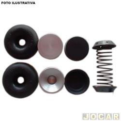 Reparo cilindro de freio - Bosch - F100/F1000/F2000 - A10/C10/D10/A20/C20/D20 - completo - dianteiro - cada (unidade) - RD4744-0204062048