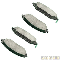 Pastilha de freio - Nakata - Cobalt 1.4/1.8 / Sonic 1.6 16V / Spin 1.8 2012 em diante - com abs - dianteiro - jogo - NKF-1275P