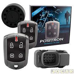 Alarme para motos - Pósitron - YBR Factor 125 - DuoBlock G7 - 2010 em diante - cada (unidade) - 012589000