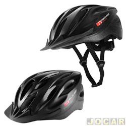 Capacete para ciclista - Multilaser - adulto médio (M)(54-58cm) - aba frontal destacável - lavável - cada (unidade) - BI-002