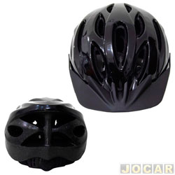 Capacete para ciclista - Multilaser - adulto grande (G)(48-62cm) - aba frontal destacável -lavável - cada (unidade) - BI-003