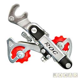 Câmbio para bicicleta - ROC - MTB - Zincado - com Gancheira - para Roda Livre de 6V - 13 a 28 - traseiro - cada (unidade) - 6004