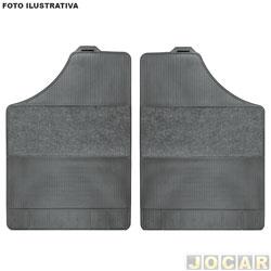 Tapete de carpete+borracha - BRB Unicol - D20 1985 até 1996 Cabine Simples - Confort 2 peças - preto - par - 3323