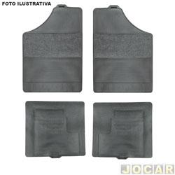 Tapete de carpete+borracha - BRB Unicol - Série 3 (tipo universal - ver detalhes) - Confort 4 peças - preto - jogo - 1103
