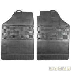 Tapete de borracha - BRB Unicol - Hilux/SW4 2005 até 2009 - Stratus 2 peças - preto - par - 911007.1/1516