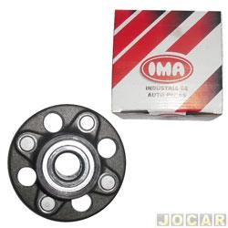 Cubo de roda - IMA - Civic lx lxl 2001 até 2006  - com rolamento - forjado - sem abs diametro 30 mm - traseiro - cada (unidade) - AL-958